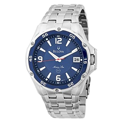 Bulova Men's 98B111 Marine Star Stainless Steel Bracelet Blue Dial Watch by Bulova
