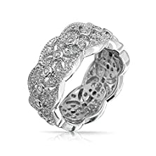 buy Bling Jewelry Sterling Silver Cz Vintage Style Leaf Band Ring