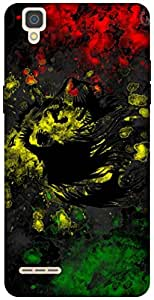 The Racoon Lean Rasta Lion hard plastic printed back case / cover for Oppo F1