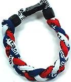 "NEW! Navy Blue Red White 8"" Torando Titanium Sport Wristband"