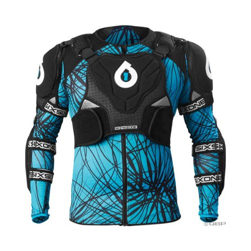 SixSixOne EVO Protective Pressure Suit: Black/Blue; SM