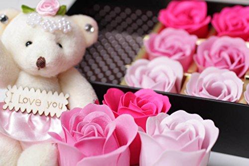 フラワーソープ 薔薇 12個入り くま プレゼント 花