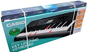 Casio LK-160 Key Lighting Keyboard System and Step Up Lesson 61-Key with Stand and 110/220 Volt AC Adapter