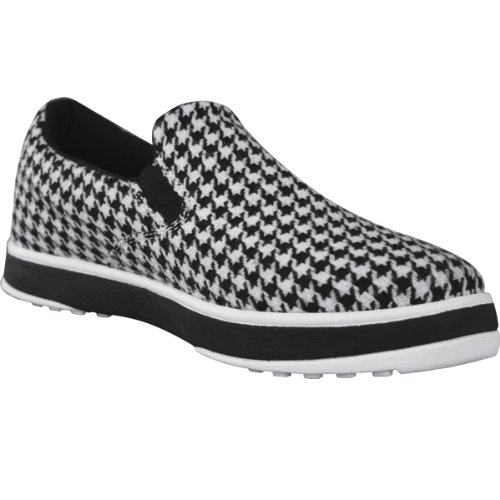 DAWGS Men's Canvas Golf Walking Shoe,Houndstooth,13 M US