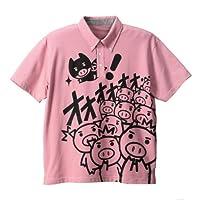豊天 BUTTAMAN柄鹿の子半袖ポロシャツ ピンク 1158-4232-1 [3L・4L・5L・6L] 大きいサイズ メンズ