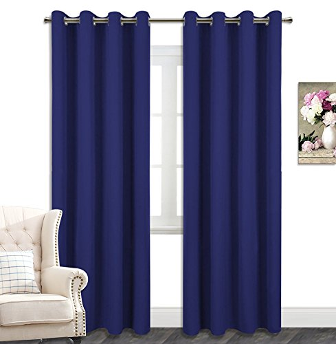 AmazonCurtains Room Darkening Thermal Insulated Solid Grommets Curtains/Drapes (W 52