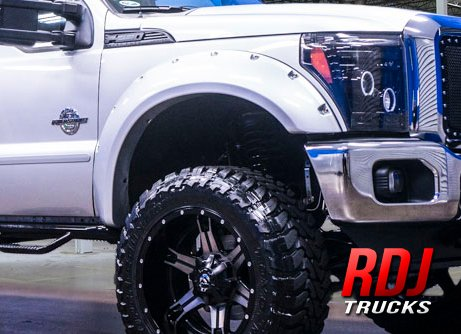 Stores 2015 Cheap Rdj Trucks Pocket Bolt Fender Flares Ford F250 F350 Superduty 2008 2010 Set Of 4 Textured Black Finish Get I Seesale