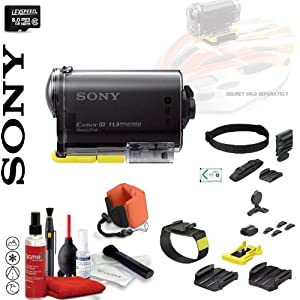 Sony POV HD 1080p Wearable Cam with Carl Zeiss Lens and Built-In WiFi, GPS & NFC Wearable Pack