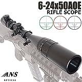 ANS Optical 6-24x50AOE フロントフォーカス ライフルスコープ レッド&グリーン&ブルー フルセット マウント・キルフラッシュ・フロントフード付