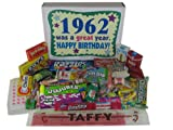 50th Birthday Gift Basket Box - Nostalgic Candy: 1962