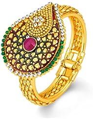 Sukkhi Fascinating Gold Plated Kundan Free Size Kada For Women