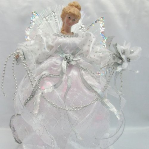Trim a Home® 15in Fiber Optic Angel Tree Topper - White/silver