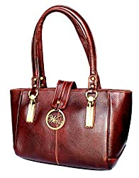 StonKraft Women's Handbag (Brown) (LthrBrwnBag125)