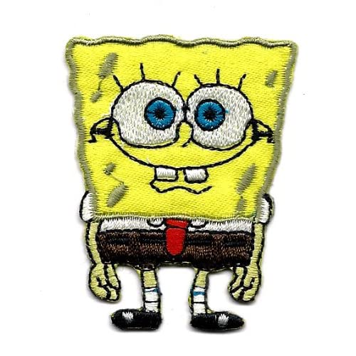 Spongebob standing hands to side Nickelodeon Embroidered Iron On /Sew