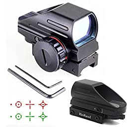 RioRand Generic Holographic Red and Green Dot Sight Tactical Reflex 3 Different Reticles