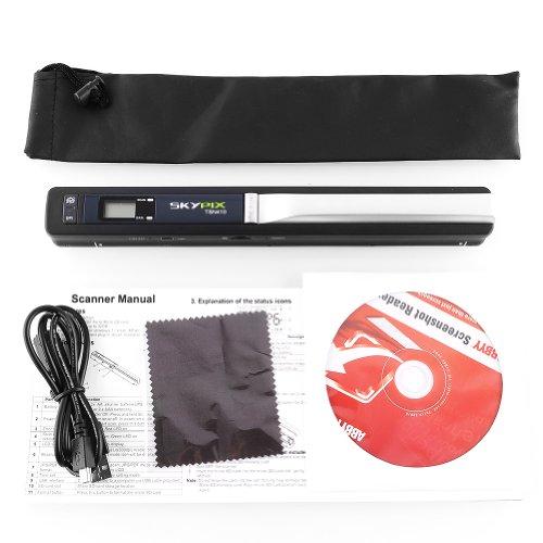 Amzdeal® SKYPIX TSN410 Scanner Portatile 900DPI per Documenti A4, Foto, Scontrini, Libri ecc a Colori o in Biano e Nero