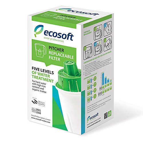 Premium Pitcher Water Filter Replacement by Ecosoft - Easy & Affordable Purification System, Provides Crisp, Natural & Healthy Drinking, For Use in The Ecosoft Pitcher Water Filter (1 Filter) (Fountain Drink Cup Dispenser compare prices)