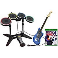 Rock Band Rivals Band Kit with Wireless Charcoal Fender Jaguar