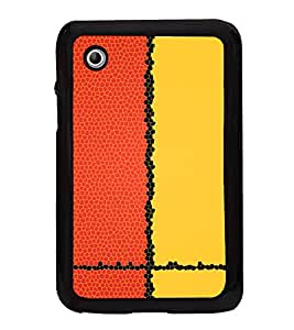 Red Yellow Pattern 2D Hard Polycarbonate Designer Back Case Cover for Samsung Galaxy Tab 2 :: Samsung Galaxy Tab 2 P3100