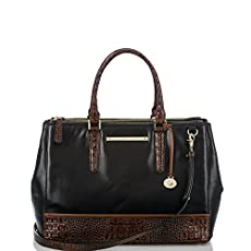 Lincoln Satchel<br>Black Tuscan Tri-Texture
