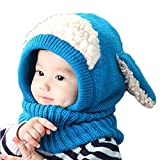 FEITONG(TM) Lovely Winter Baby Kids Girls Boys Warm Woolen Coif Hood Scarf Caps Hats + 1 PC women Headband