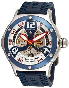 Stuhrling Original Men's 4ATXL.332U6C6 Champion Alpine Extreme Automatic Skeleton Blue Rubber Strap Watch