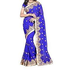 Rangrasiya Corportation Women's Georgette Saree_07_Blue_Freesize