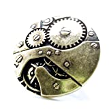 DaisyJewel Top Seller Mega Clearance Sale Stretchy Stretch Band Vintage Industrial Patina Bronze Steampunk Pocket Watch Clockwork Gears Machinery Ring - Stretches Adjustable Through the Range of Size 4 to Size 6