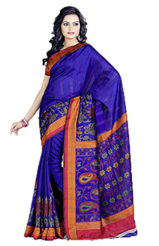 Shri Vaishnavi Raw Silk Saree (5123 -Blue)