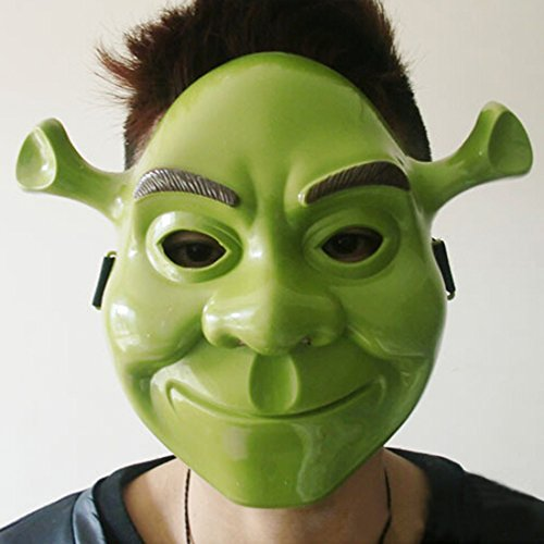 Masquerade Halloween Party Cosplay Green Color Plastic Animal Full Head Shrek Mask