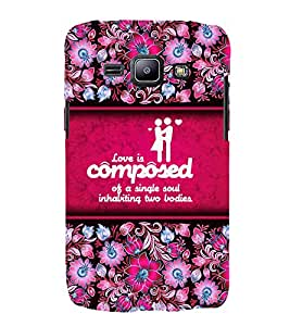 Love Quote 3D Hard Polycarbonate Designer Back Case Cover for Samsung Galaxy J2 (2015) :: Samsung Galaxy J2 J200F