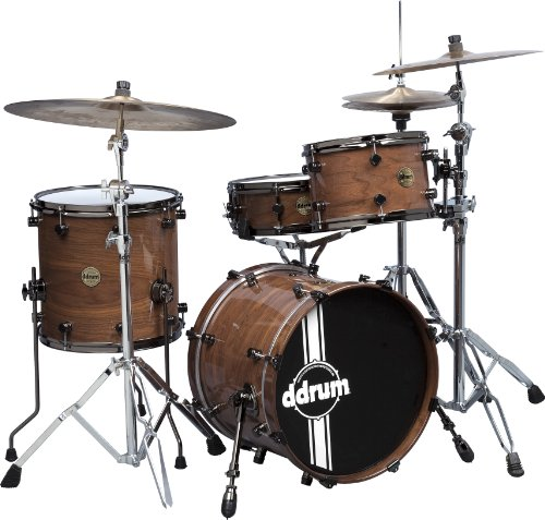 Ddrum Pwse418 Nw Paladin Walnut 4-Piece Drum Set, Natural Walnet