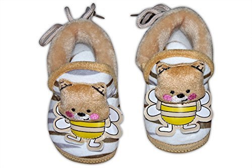 Baby Station Booties Winter Warm Girl Boys Shoes First Walker Training Shoes Bunny Face(0-6 M) (Light Brown)  available at amazon for Rs.275