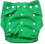 badynoo bdn01ajustable, lavable, impermeable de bebé de algodón Pañales de tela pañales de tela de malla/ Plain Green Talla:mediano