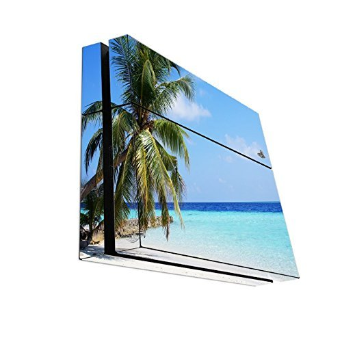 beach-palm-tree-hammock-ocean-relax-playstation-4-ps4-console-vinyl-decal-sticker-skin-by-moonlight-