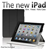 The New iPad 3rd Generation Magnetic Smart Cover Portfolio Case Stand Wake/Sleep. Front and Back Protection for Ipad 3 -Black
