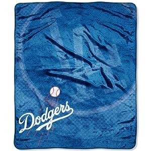 MLB Los Angeles Dodgers Raschel Plush Throw Blanket, Retro Design by Northwest