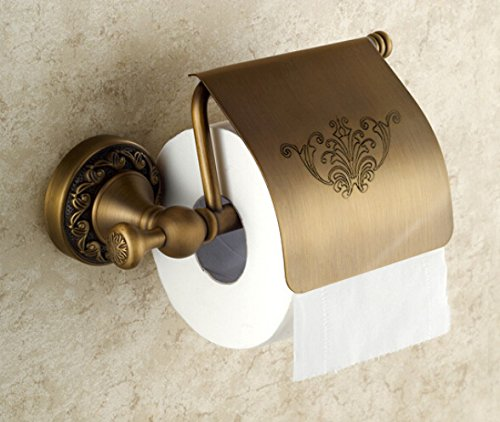 Oulantron antique brass toilet paper holder roll tissue Antique toilet roll holders
