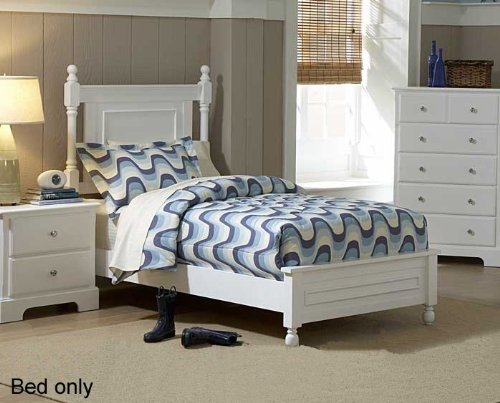 Morelle Panel Bed Size: Twin, Finish: White
