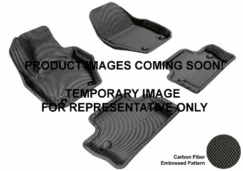 3D Maxpider Front Row Custom Fit All-Weather Floor Mat For Select Ford Fusion Models - Kagu Rubber (Black)