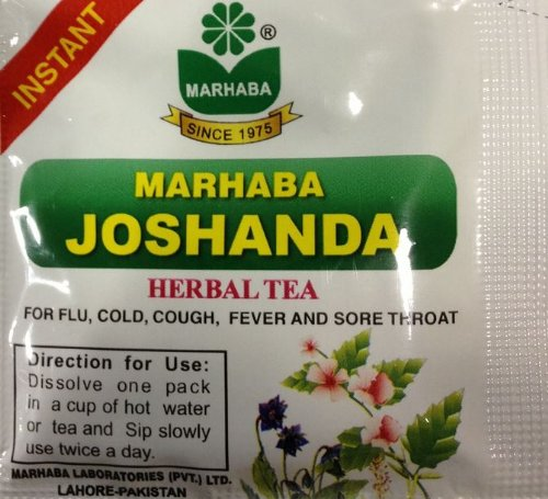 Joshanda (Herbal Tea) 5 Packet X 5 Grams - For Flu, Cold, Cough, Fever And Sore Throat