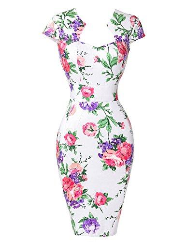 GRACE-KARINWomen-Vintage-Dress-Cap-Sleeve-BodyCon-50s-Dresses-CL7597