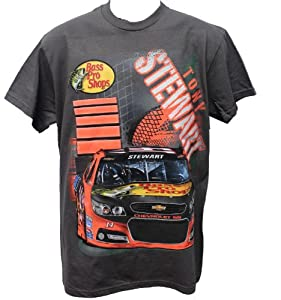 Buy 2014 Tony Stewart Bass Pro Mens Tee Shirt Double Sided by NASCAR