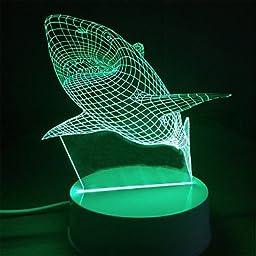 CHXDD Colorful Lights Creative 3D Wedding Gift birthday Gift Children Nightlight Children Room Bedroom Lamp USB Stereo Plug
