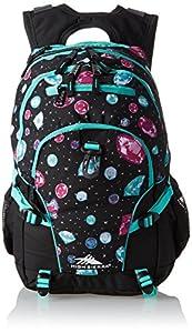 High Sierra Loop Backpack, Bejeweled/Black/Aquamarine, 19 x 13.5 x 8.5-Inch