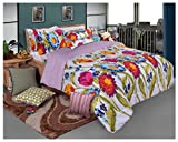 Bellagio Elite Collection Cotton 1 Double Bed Sheet & 2 Pillow Covers (Multicoloured)
