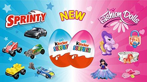 Kinder surprise Eggs (pack of 12)- Fashion Dolls