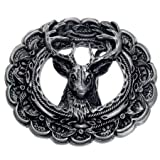 Buckle Deer Head Hunter, costume, western, costumes, belt buckle