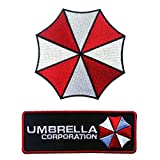 Set of Umbrella Corp and Umbrella Resident Evil Costume Patches (Color: red, white, black)