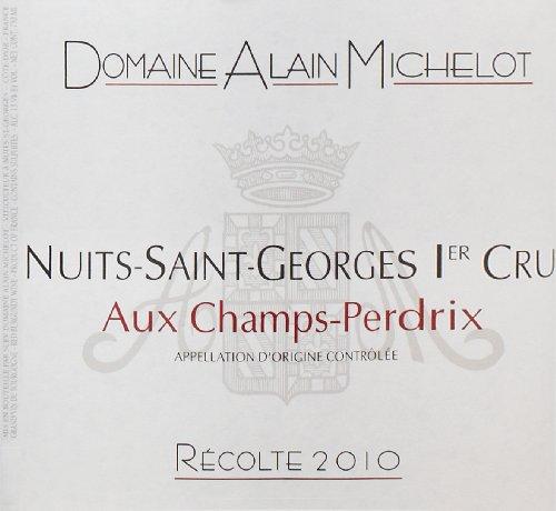 """2010 Domaine Alain Michelot """"Aux Champs-Perdrix,"""" Nuits-Saint-Georges 1Er Cru 750 Ml"""